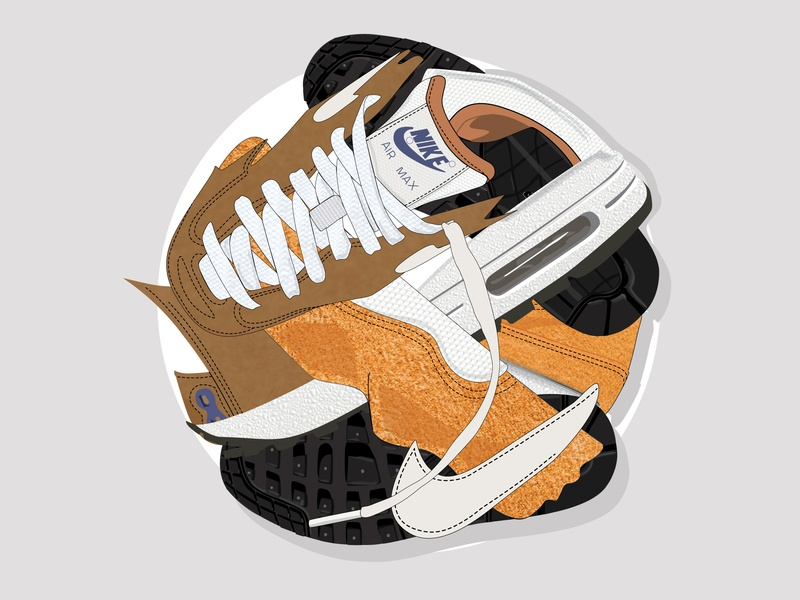 A Bubble of Sneakered Nike Air ✔️ texture patterns pieces sneakerhead ball nike vector curry nike air max nike air women in illustration sneakers concept design illustration