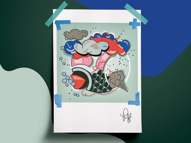 P U F F submission zine circle circle design ball band aid bubbles cloud clouds puff women in illustration shapes concept colors design illustration