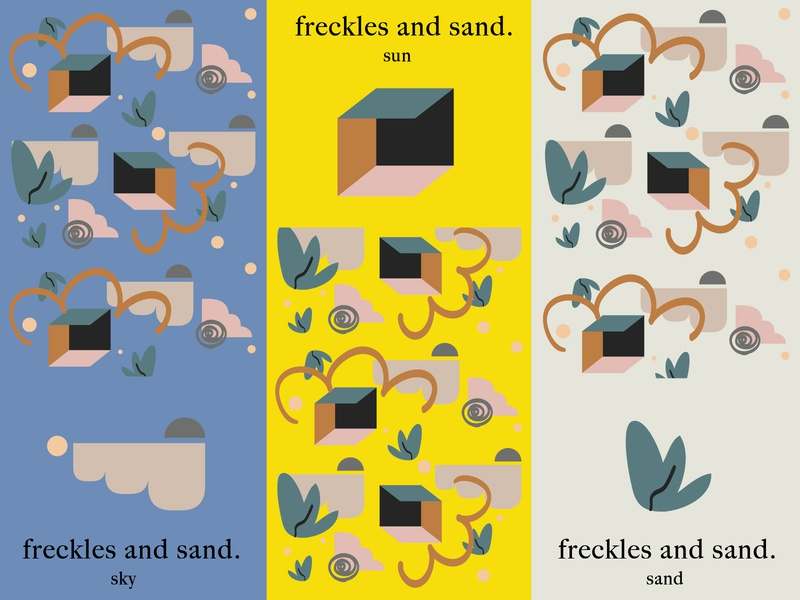 Freckles And Sand Pattern and Color Exploration icons print pattern design pattern women in illustration shapes concept design colors illustration