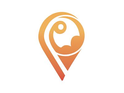 Habfit logo circular fitness vector illustrator branding logo