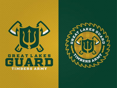 Great Lakes Guard adobe illustrator logo supporters soccer portland timbers guard michigan