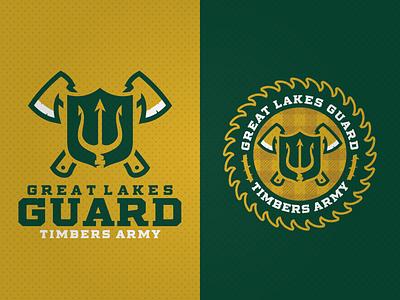 Great Lakes Guard adobe illustrator logo supporters soccer portland timbers guard michigan