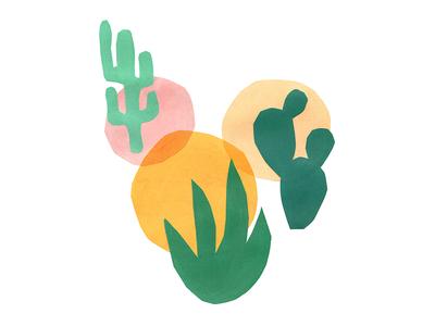 Desert Vibes greenery abstract illustration plant plants cactus desert
