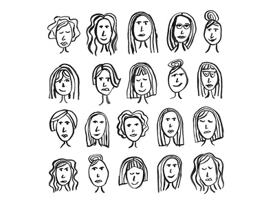 Lady Sketches face person people portraits faces ladies girls women drawing illustration sketch