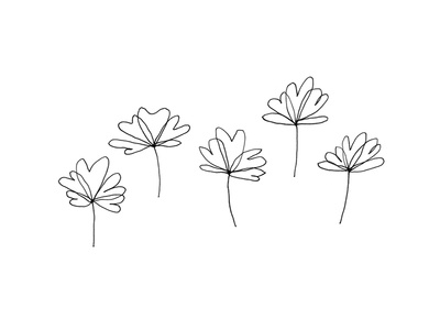 Simple Flowers line cute simple illustration plants plant flowers flower