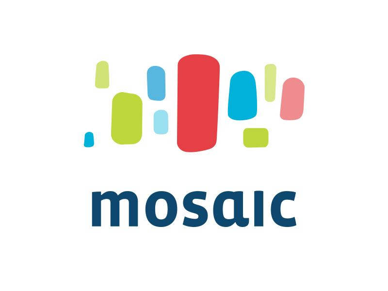 Mosaic logo mosaic 70s 60s blobs groovy