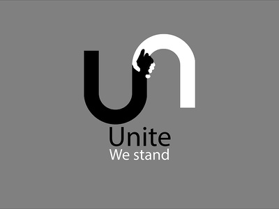 Unite antiracism humanity flat logo illustration