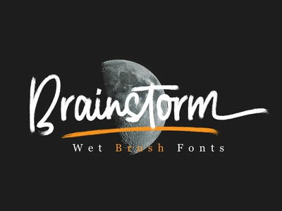 Brainstrom // Wet Brush Fonts