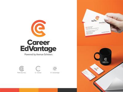Career EdVantage – Logo Design business card stationery branding logo design logo
