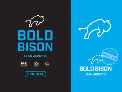 Bold Bison – Logo Design bison logo packaging design branding logo design logo