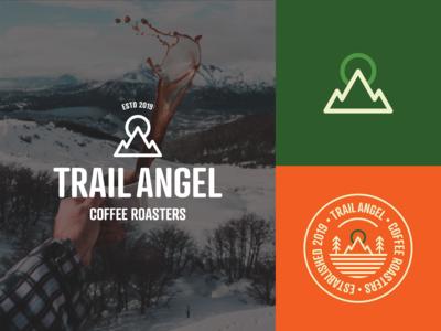Trail Angel - Brand Assets mountain outdoors coffee company coffee monoline logo brand design branding logo design logo
