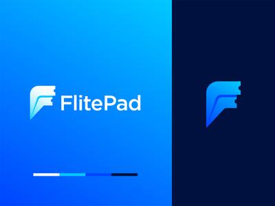 FlitePad – Logo Design minimalist logo minimal app logo app ticket letter f airplane illustration lettermark logomark monogram logodesign branding brand design logo design logo