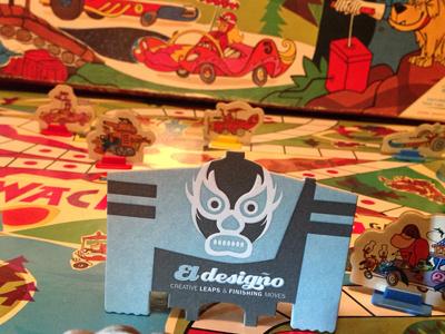 Ed at the Wackyraces luchador ed wackyraces businesscard eldesigno