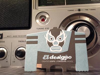 Rocker ED luchador ed retro radios businesscard eldesigno