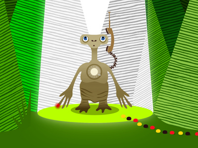 E.T Poster Illustration