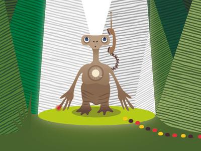 E.T Poster Illustration  eldesigno fan art vector illustration vector art e.t. movie movieposter