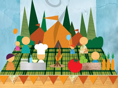 Culinary Cookout graphic illustration festival design print foodie poster