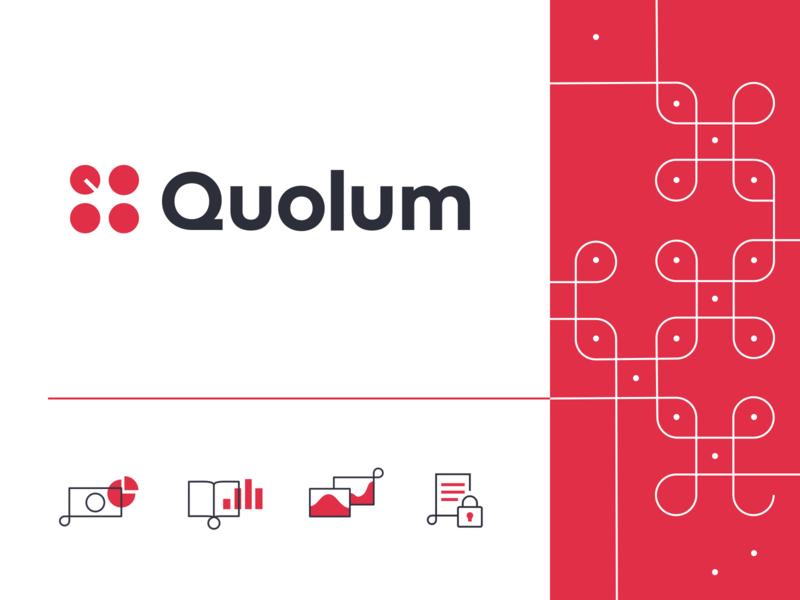 SaaS Logo & Iconography: Quolum icon typography geometric geometry icons logo design branding and identity kolam branding concept branding design branding