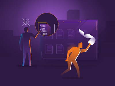 GDPR: Data and Application Security purple security privacy agency spot illustration gradient geometric vector illustration gdpr data security infographic