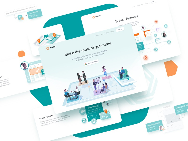 Humans and Software: Woven illustrations brand agency brand style tile branding woven ui design ux design design agency composition ai calendar illustration layout ux