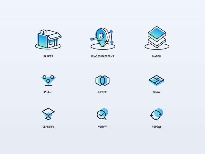 Iconography with SafeGraph ui marketing agency illustration icon design iconography icons