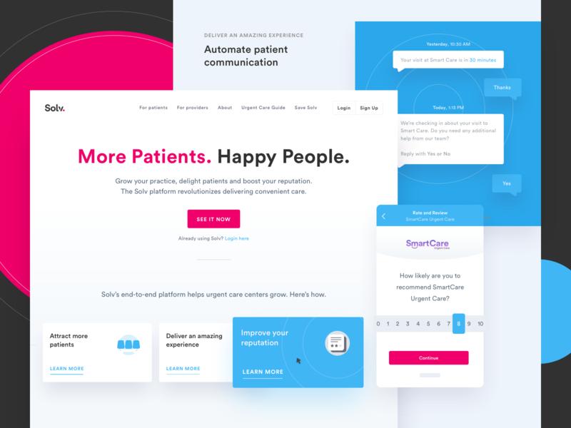 Solv: More Patients. Happy People. conversion rate optimization conversion branding webdesign website design develop ui design marketing illustration website
