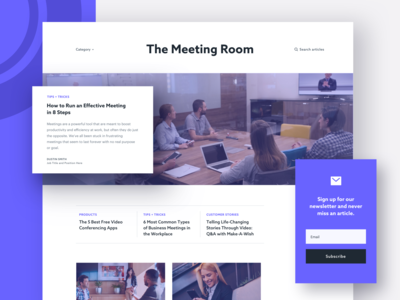 Blog Redesign: The Meeting Room resources website concept web design webdesign typography marketing ui blog illustration blog design blog