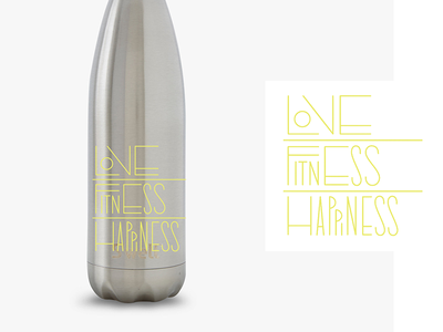 Crunch Water Bottle fitness lettering typography type merch