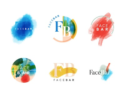 FaceBar Logos photoshop illustrator procreate logos brand branding design first draft logo
