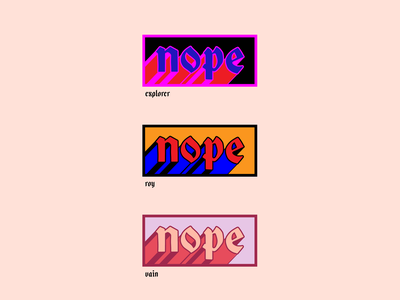 Nope Lettering procreate word adobe illustrator vector design lettered typography type lettering
