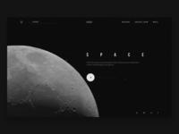 Space exploration website concept