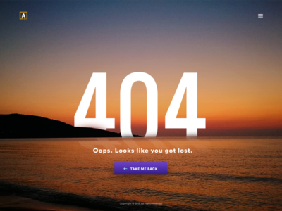 404 Page page website design 404 daily challenge ux ui daily