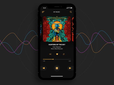 Music Player design mobile ux ui spacedchallenge app music minimal challenge daily