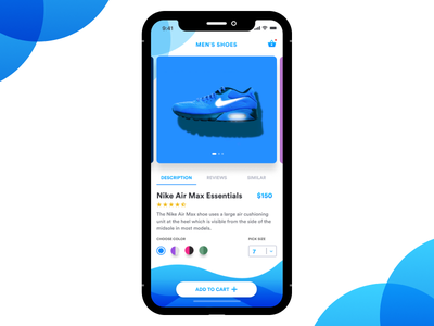 E-commerce shop (single item) airmax nike e-commerce mobile design app design design ux ui daily challenge