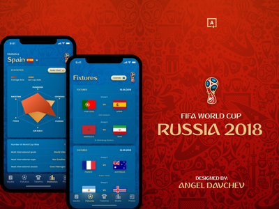 Fifa World Cup 2018 Russia russia football world cup mobile design app design ux ui