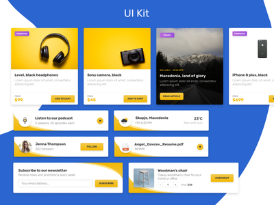 UI Kit Blocks interface components design kit uipractice ui