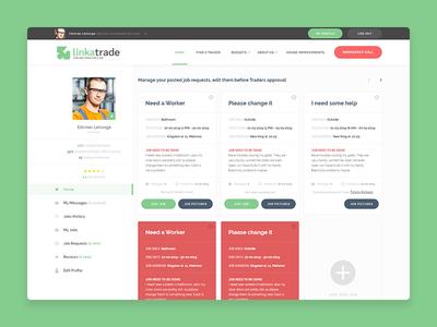 LINKATRADE Online Platform Dashboard Design