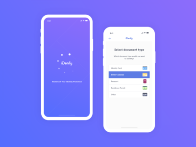 Identification Mobile App UI