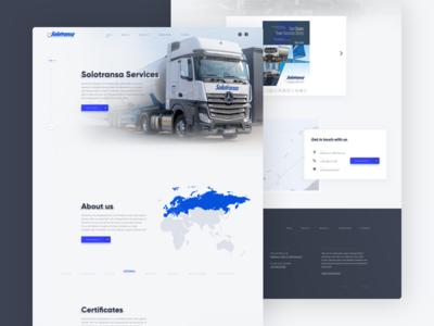 SOLOTRANSA - Transportation Landing Page