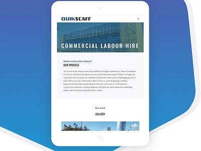 Tablet View of Quickscaff mockjup tablet web development web design coding wordpress ui graphic design design