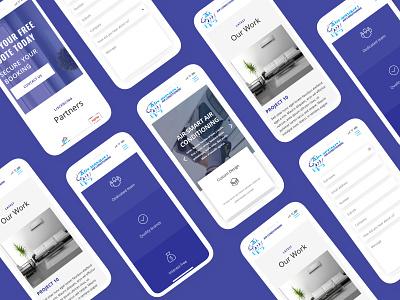 Mobile Mockups for Airsmart webdesign web development wordpress vector design