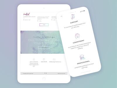 Development for Soulful Psych design therapy psychologist psycholgy gold coast sketch coding wordpress development purple