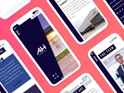 Mobile Mockups for AH Fencing (Full Stack design) web development web design sketch graphic design design wordpress fencing design fencing website fencing trade tradie mobile mockup