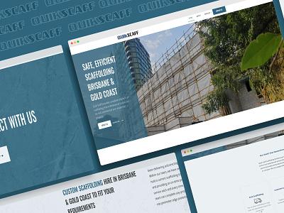 Webdesign & Development for quikscaff.com.au blue web designer web design web development wordpress scaffolding website quikscaff scaffolding design