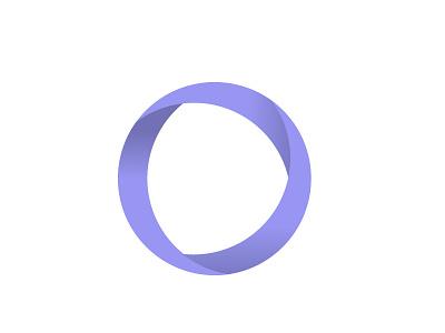 Ribbon Logo Play circle graphic design design simple shadows ribbons purple logo