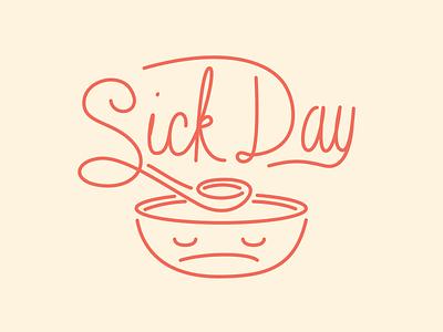 Cough cough illustration drawing monoweight cute cursive type typography script monoscript custom