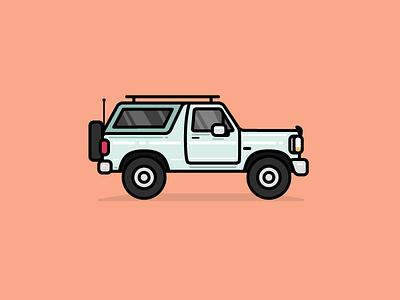 Bronco automobile truck car illustration bronco ford