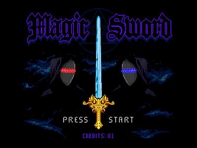 Magic Sword game video arcade sword magic art pixel