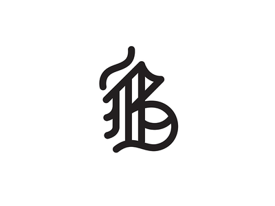 Black Bubble old white black drawn hand script stroke b blackletter bubble typography type