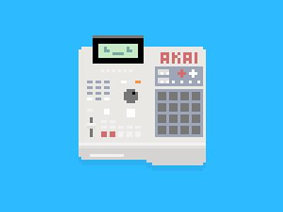 beep beep beats disk floppy blue beats slider cute icon pixel machine drum mpc akai